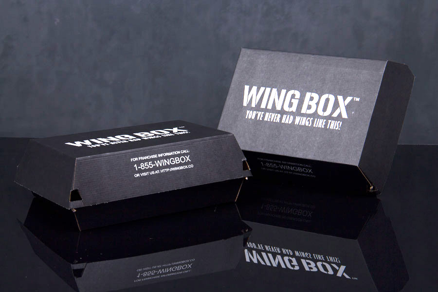 Custom Ink Printed - Corrugated Sandwich Take-out Boxes - Wingbox Restaurant