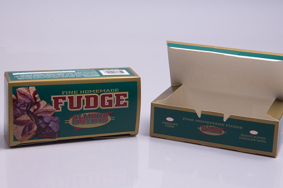 Custom Printed Fudge Product Boxes - Almond Brothers