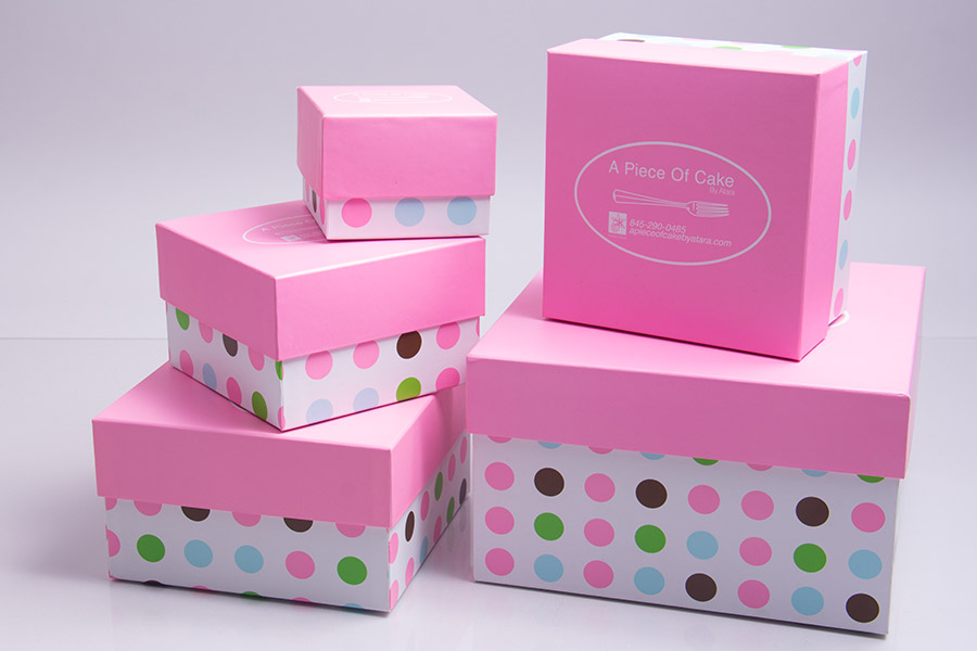 Custom 4 Ink Color Printed Cake Boxes - A Piece of Cake