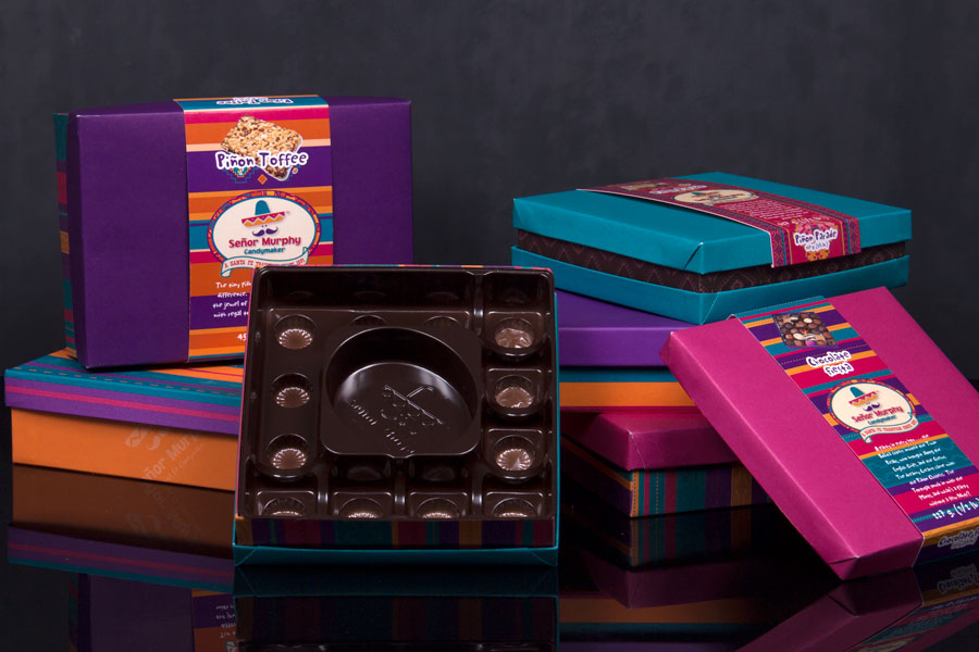 Custom Candy Boxes with Custom molded inserts - Senor Murphy