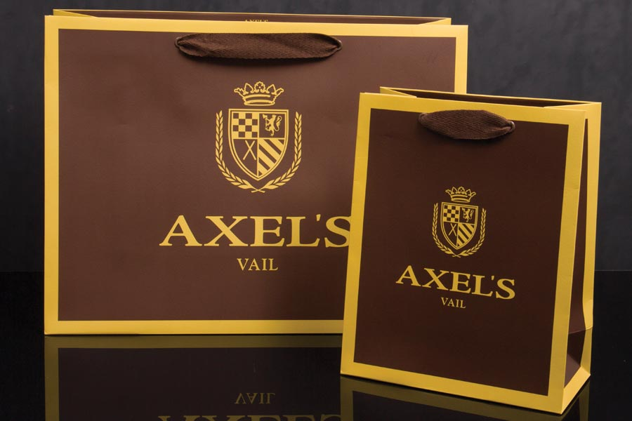 Custom Printed Twill Handled Printed Paper Eurotote Shopping Bags - Axels