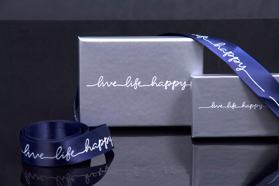 Custom hot Stamp Jewerly Boxes with Matching Hot Stamp Satin Ribbon - Bay CLub