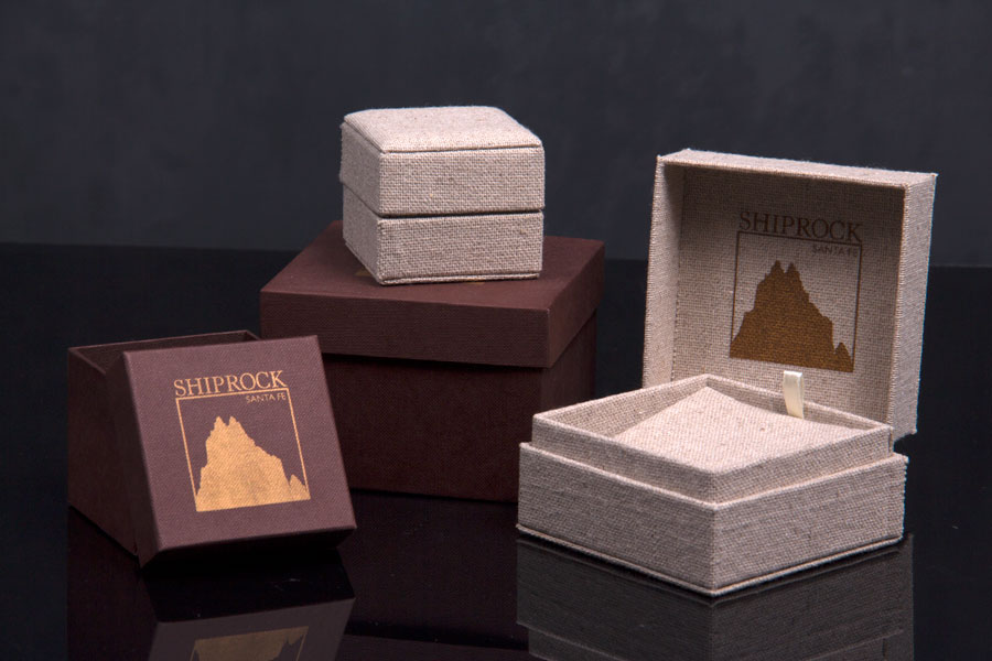 Custom Luxury Hot Stamp Jewelry Boxes with Matching Packer Boxes - Shiprock