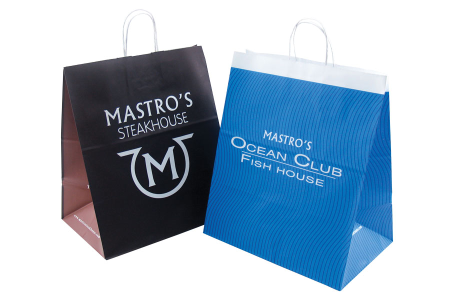 Custom printed paper take-out bags - Maestros