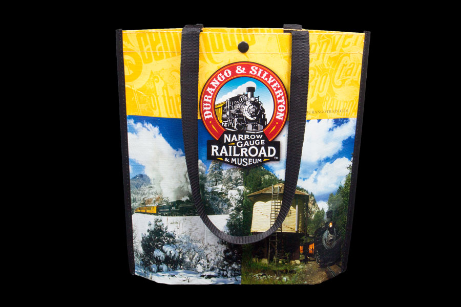 Custom printed reusable poly bag - Durango Railroad