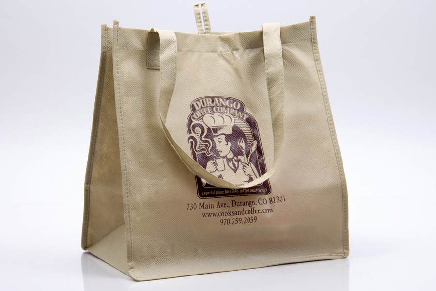 Custom printed reusable non-woven bag - Durango Coffee