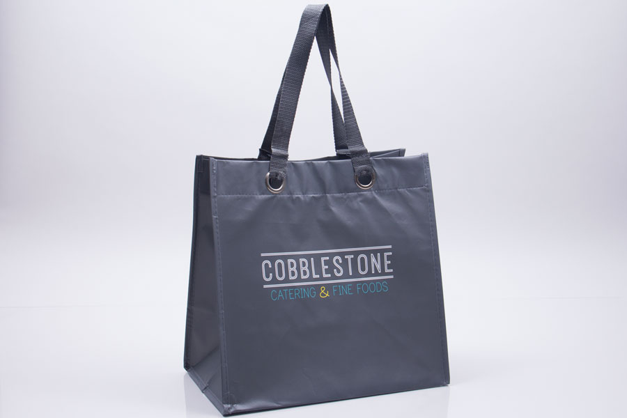 Custom printed reusable insulated catering bag - Cobblestone Catering