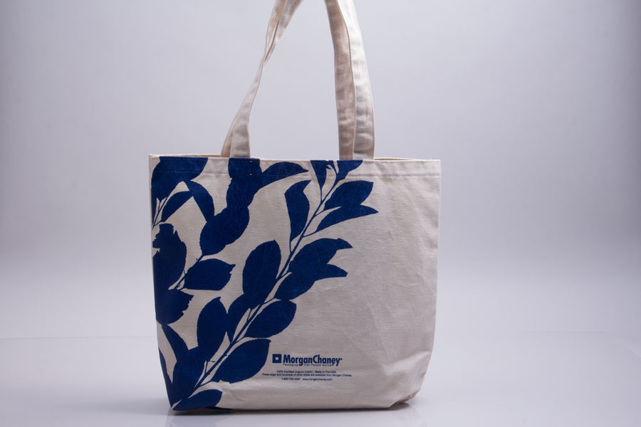 Custom printed cotton reusable bag - Morgan Chaney Marketing