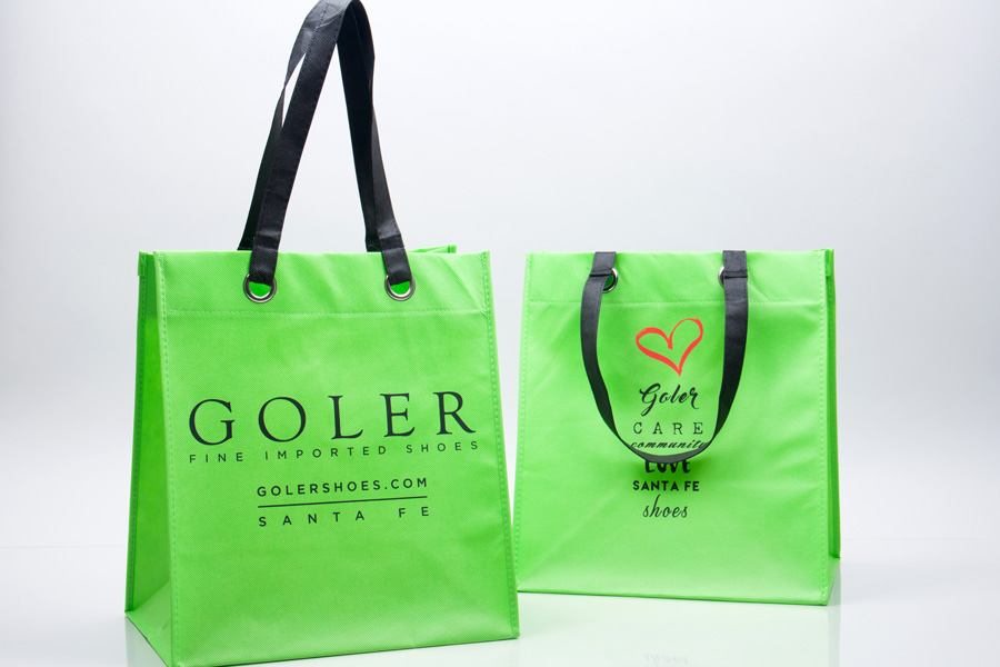 Custom printed reusable non-woven bag - Goler Shoes