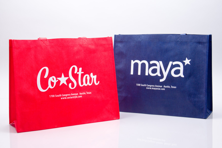 Custom printed reusable non-woven clothing bag - Maya Star
