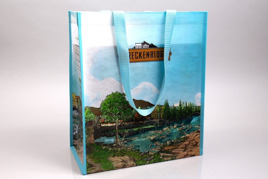 Custom printed reusable bag - City of Breckenridge
