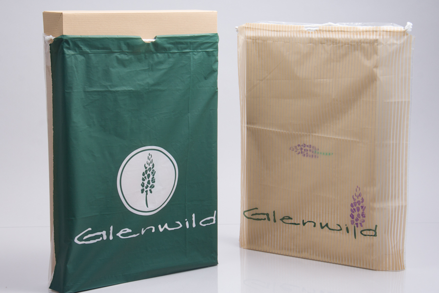 Custom Ink Printed Plastic Drawstring Plastic Bag - Glenwild