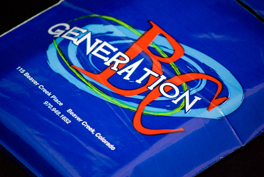 Custom Ink Printed Plastic Merchandise Bag - Generation BC