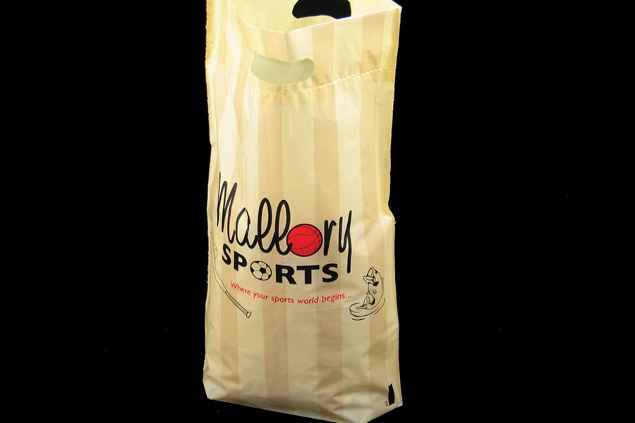 Custom Printed Plastic Shopping Bag - Mallory Sports