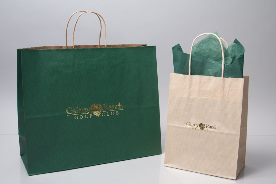 Custom Hot Stamped Paper Shopping Bag - Gainey Ranch