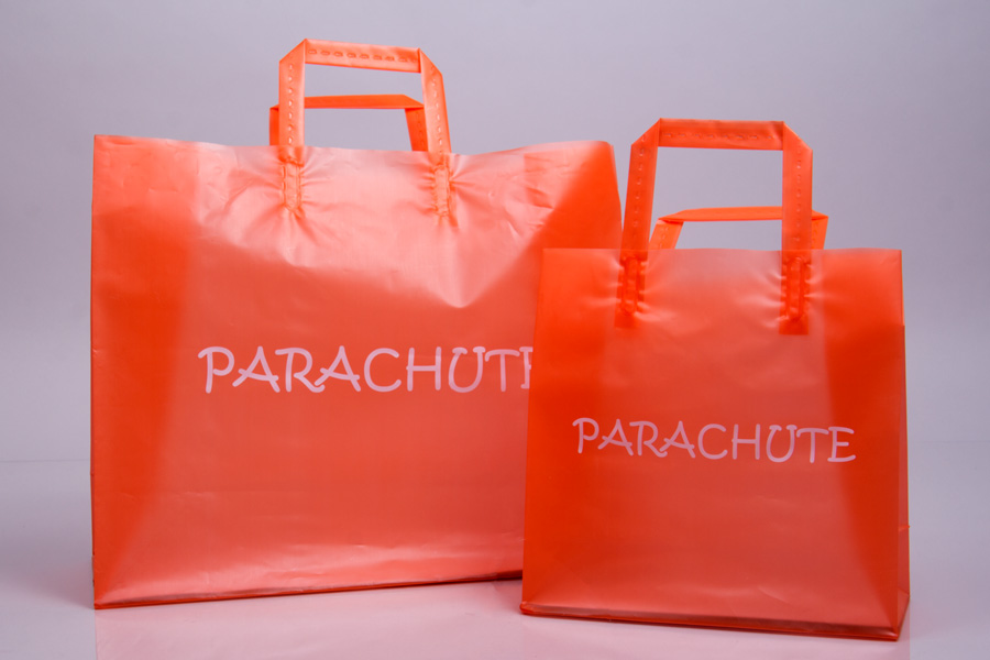 Custom Printed Hot Stamped Plastic Shopping Bag - Parachute