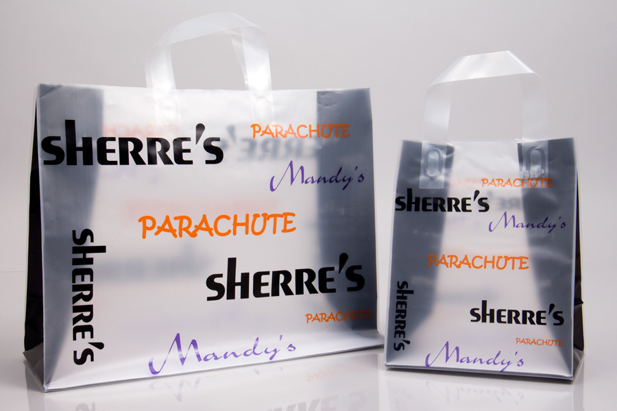 Custom Printed Clear Frosted Plastic Shopping Bag - Sherres