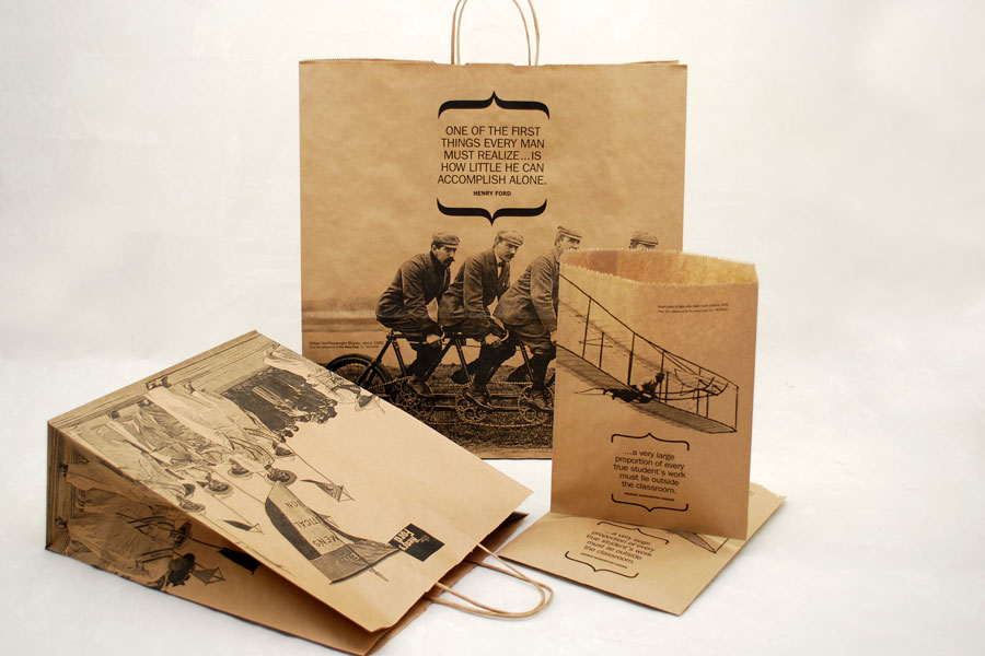 Custom Ink Printed Paper Shopping Bags - Henry Ford Museum