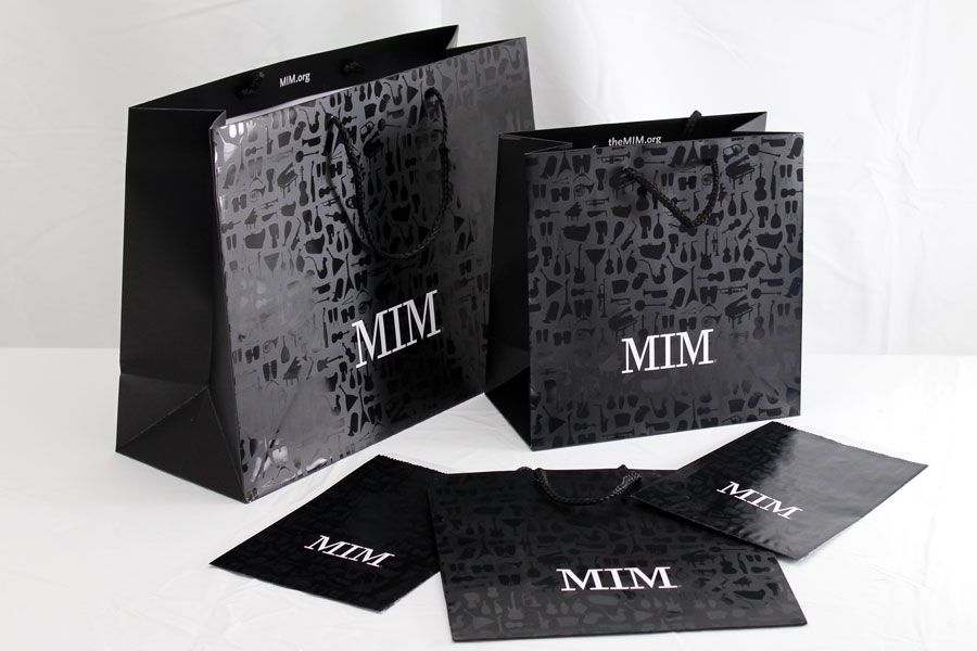 Custom Ink Printed Eurotote Bags with Spot UV - Musical Instrument Museum