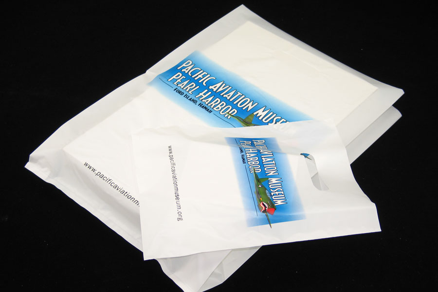 Custom Printed Plastic Merchandise Bags- Pacific Aviation