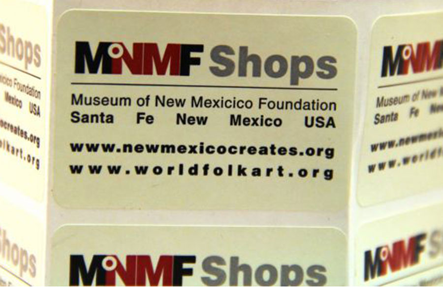 Custom Ink Printed Label - Museum of New Mexico