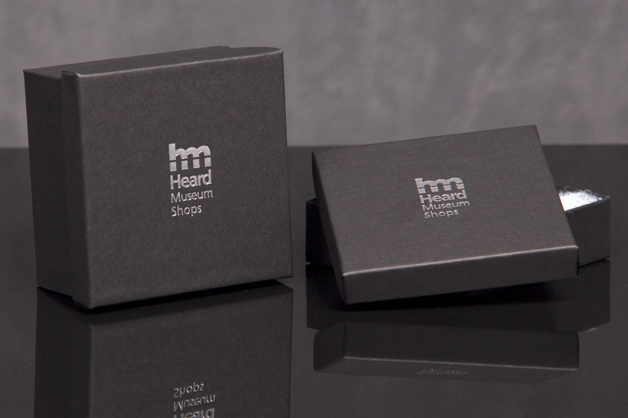Custom Hot Stamp Printed Jewelry Boxes - Heard Museum