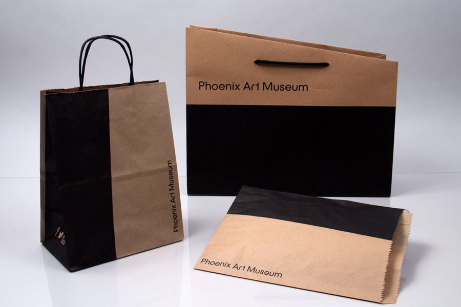Custom Ink Printed Paper Shopping Bags and Eurotote - Phoenix Art Museum