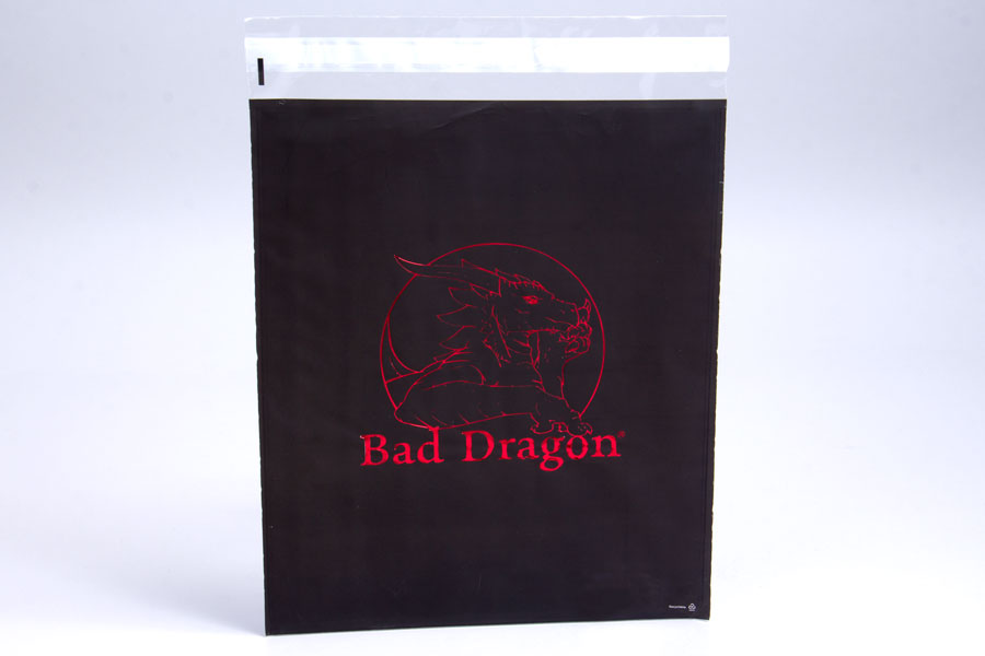Custom Plastic Mailing Bag with Hot Stamp Printing - Bad Dragon