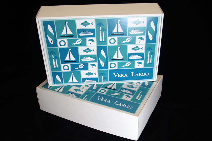 Custom Corrugated Shipping Box with Printed Litho Label - Vera Largo