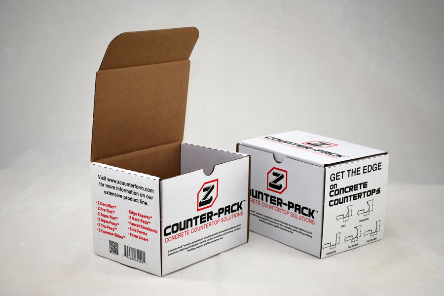 Custom Ink Printed Corrugated Shipping Box - ZCounter