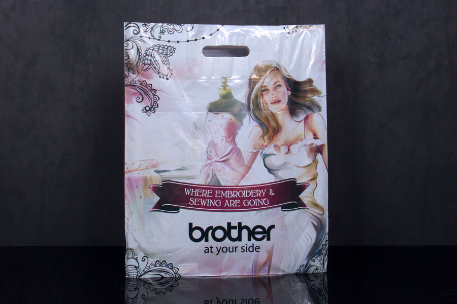 Custom Ink Printed Plastic Merchandise Bag - Brother International