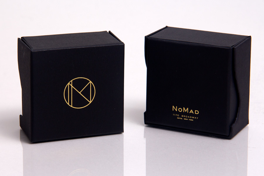 Custom Printed Giftware Boxes with Hot Stamp - Nomad Hotel