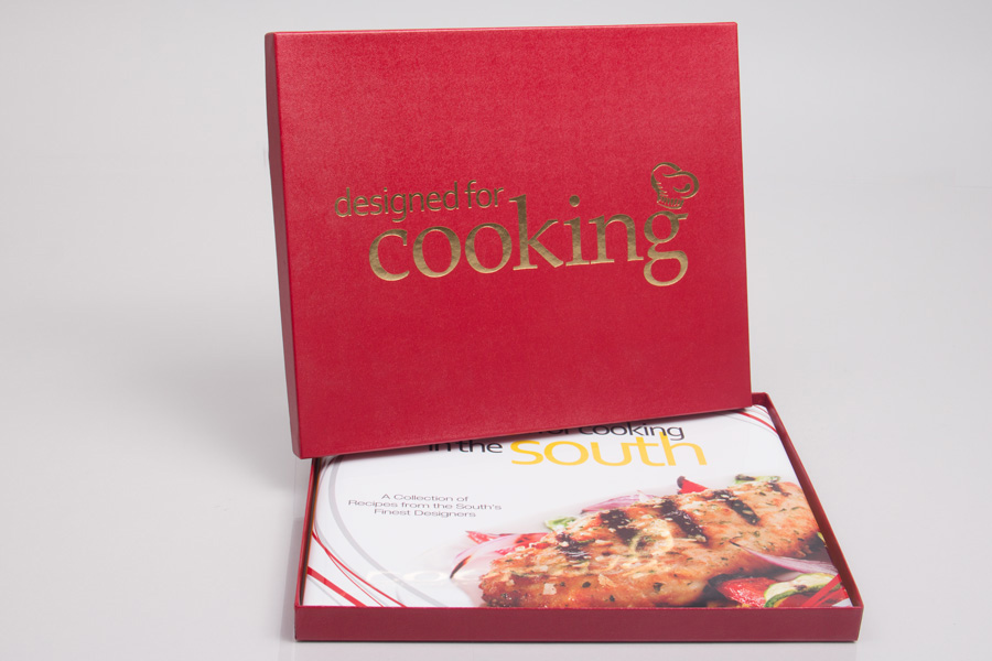 Custom Printed Giftware Boxes with Hot Stamp Printing - Just For Cooking