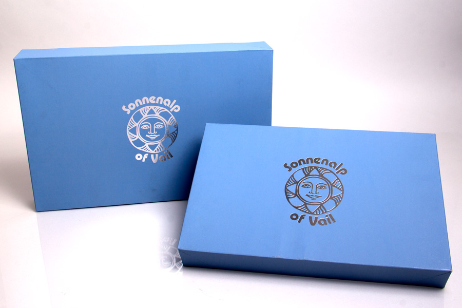Semi-Custom Printed Giftware Boxes with Hot Stamp Printing - Sonnenalp
