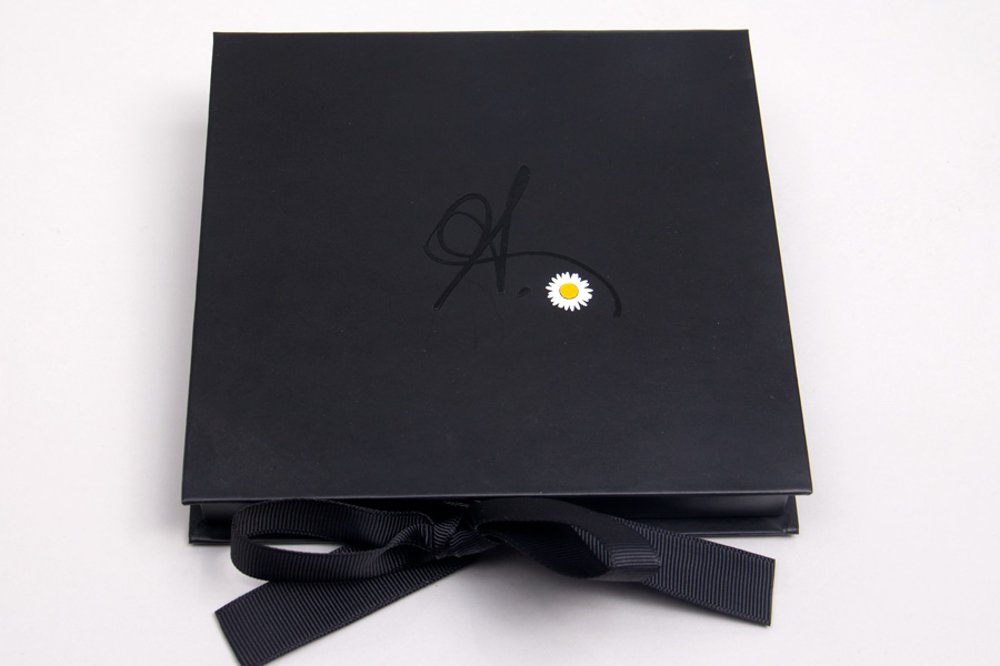 Custom Printed Giftware Boxes with Ribbon Closure - Pressed Flower