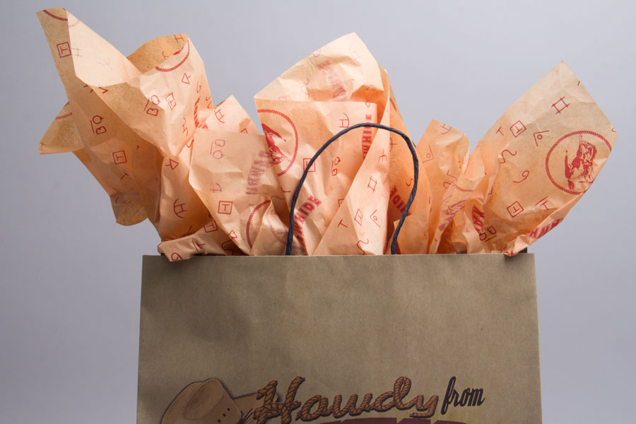 Custom Printed Tissue Paper to Accesorize Shopping Bags - Rawhide