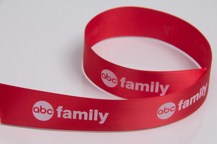 Custom Printed Ribbon for Marketing - ABC Family