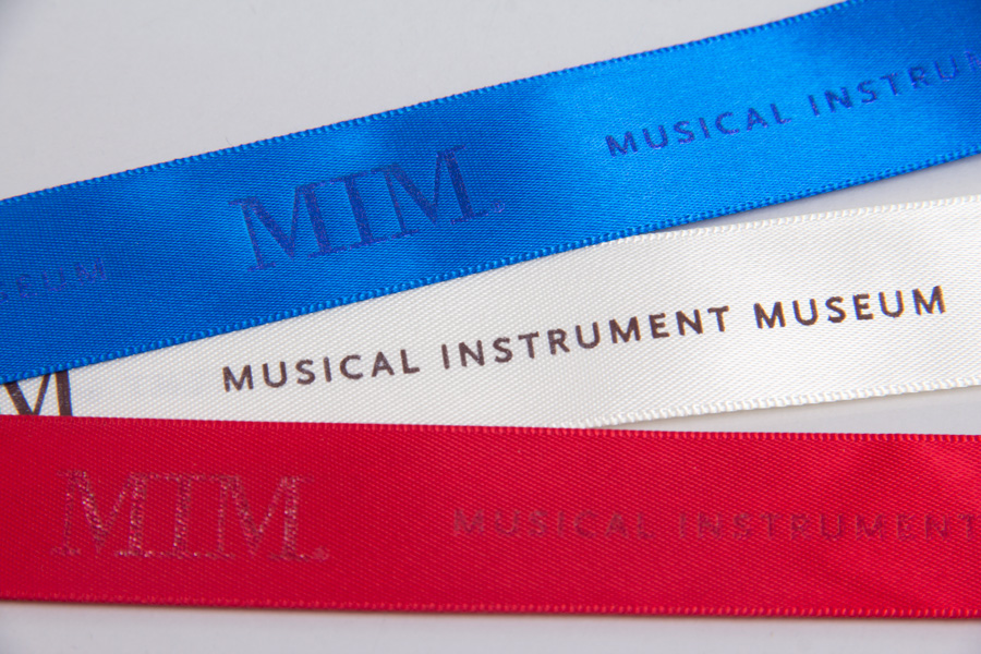 Custom Hot Stamp Printed Ribbon - Musical Instrument Museum