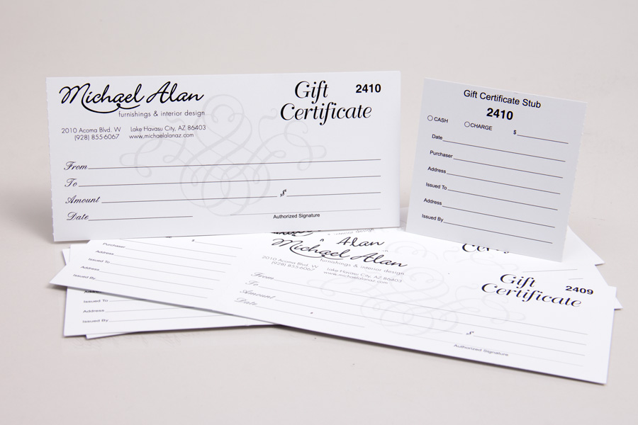 Custom Printed Gift Card Boxes Folders Morgan Chaney