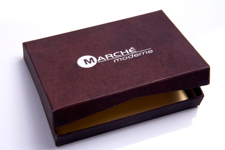 Custom Printed Gift-card Box with Hot Stamp Printing - Marche Moderne