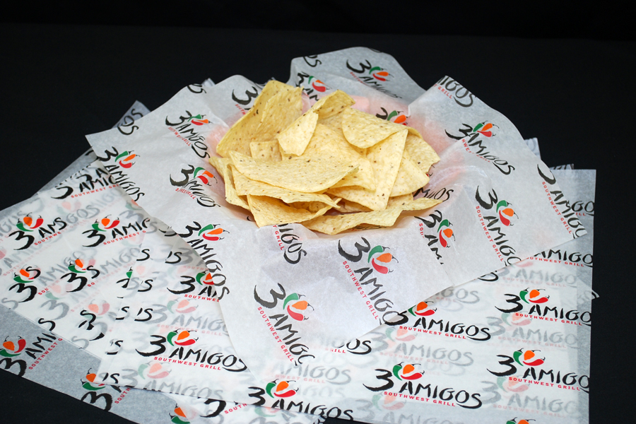 Custom Printed Food Wrap Tissue - 3 Amigos