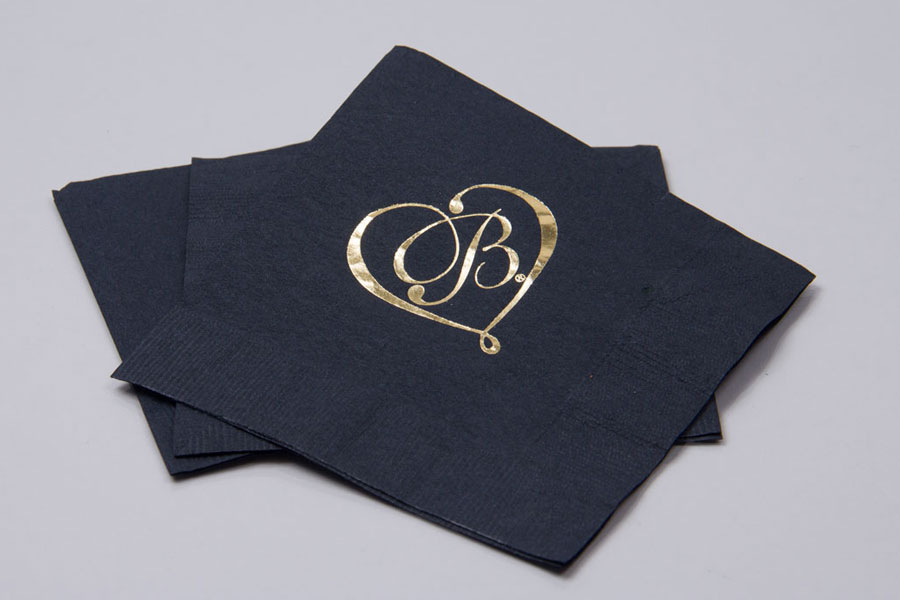 Custom Printed Napkins with Hot Stamp Foil - Brighton