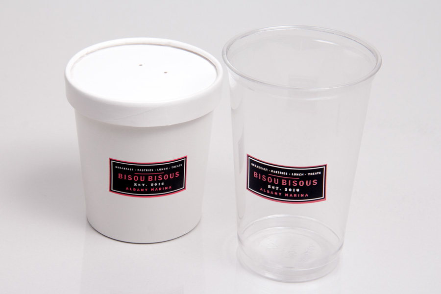 Custom Printed Hot Soup and Cold Cups for Restaurants and Catering - Bisous Bisous