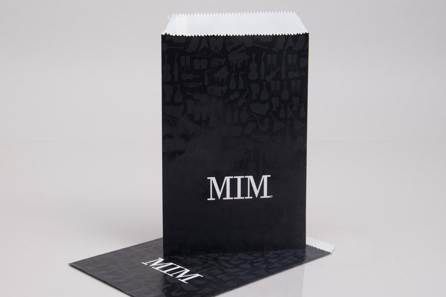 custom printed flat merchandise bags