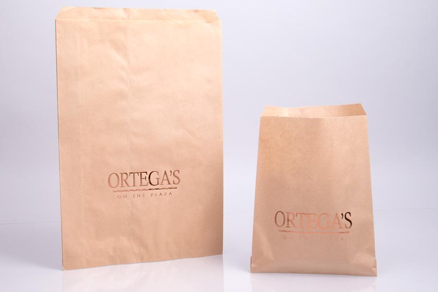 printed flat paper bags