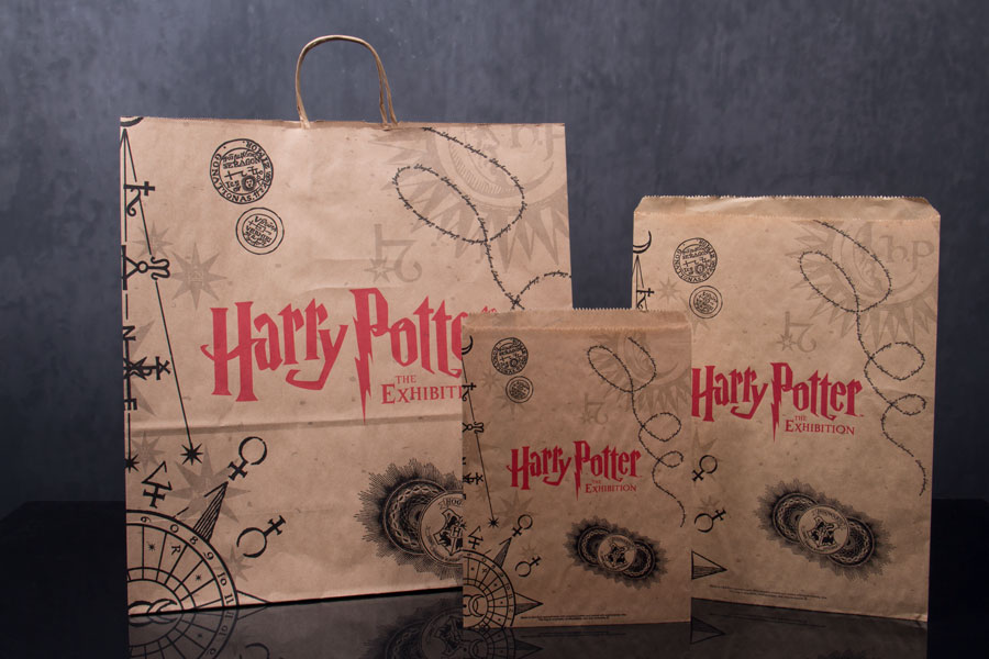 Custom Ink Printed Promotional Advertising Shopping Bags - Harry Potter