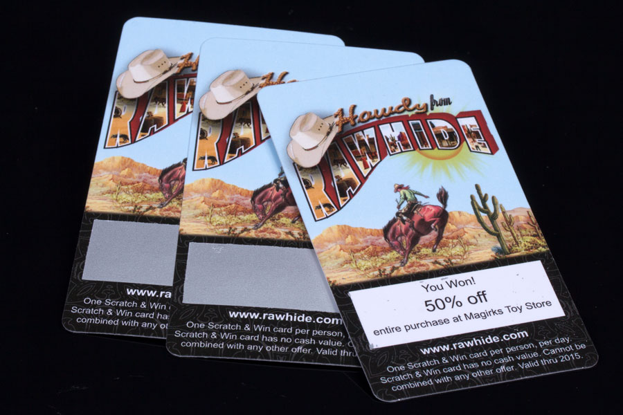 Custom Printed Promotional Scratch off cards for Marketing - Rawhide
