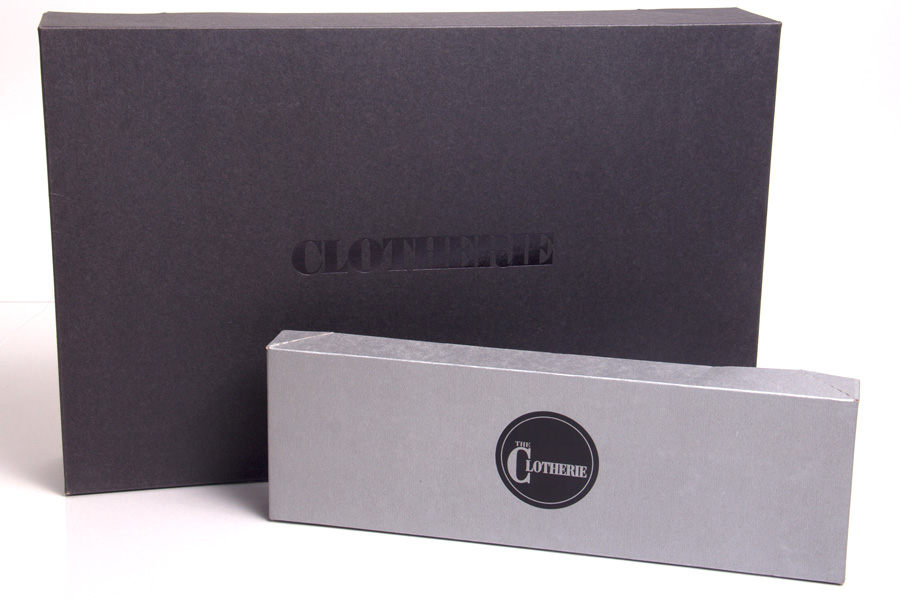 Semi-Custom Hot Stamp Apparel Boxes - Clotherie