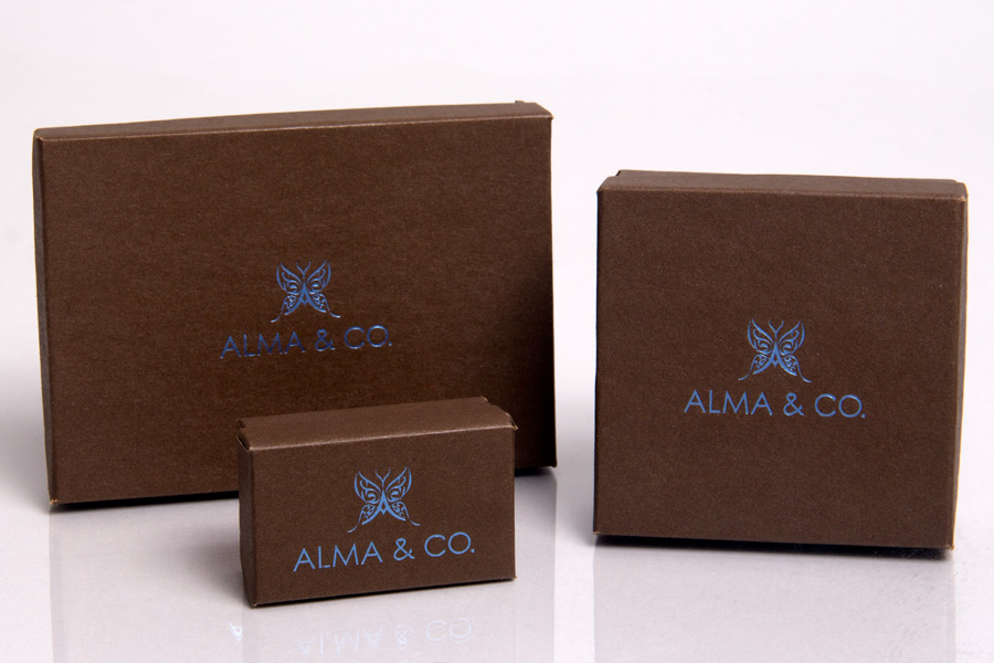 Semi-Custom Hot Stamp Jewelry Boxes - Alma and Co