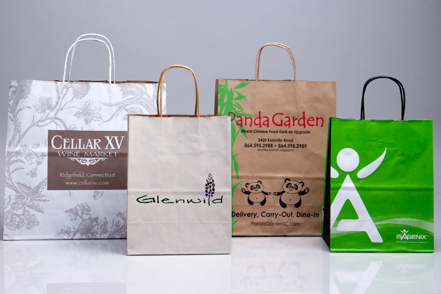 Custom Printed  and Semi-Custom Printed Paper Shopping Bags